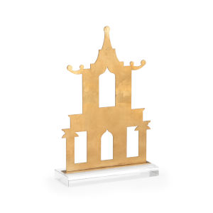 Antique Gold 11-Inch Pagoda