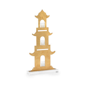Antique Gold 12-Inch Pagoda