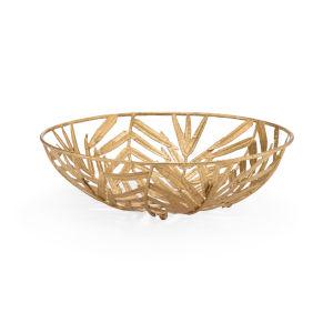 Laurel Gold 14-Inch Decorative Bowl