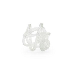 White Glass Love Knot