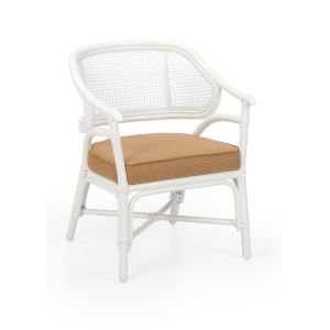Remington White Lacquer Arm Chair