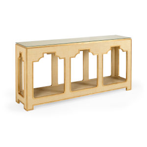 Yangon Cream and Gold Console Table
