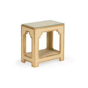 Yangon Cream with Gold Side Table