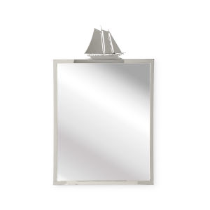 Nickel 24-Inch Wall Mirror