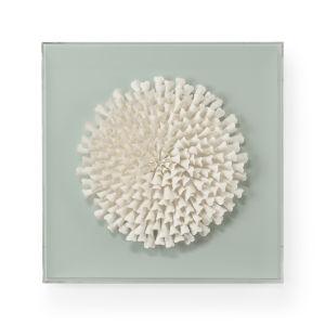 White Succulent Wall Sculpture