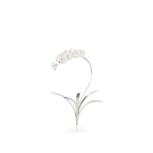 Silver 23-Inch Orchid Stem Home Decor