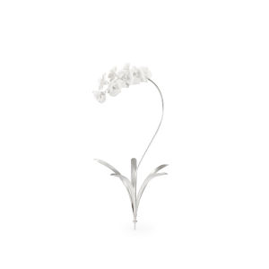 Silver 26-Inch Orchid Stem Home Decor