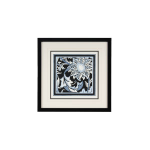 Blue and White Floral Motif II Wall Art