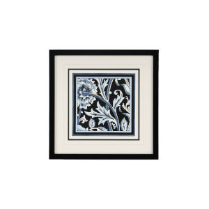 Blue and White Floral Motif IV Wall Art