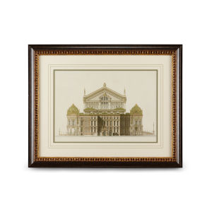 Walnut and Gold Paris Opera House I Wall Art