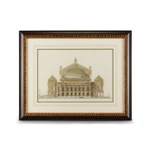 Walnut and Gold Paris Opera House II Wall Art