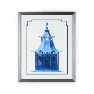 Silver Chinese Pagoda I Wall Art