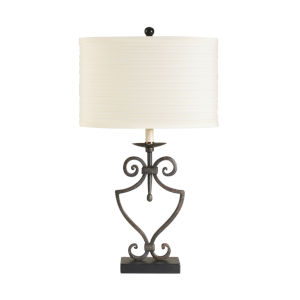 North Wells Bronze and White One-Light Accent Table Lamp