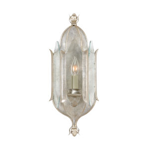 Stowe Silver One-Light Wall Sconce