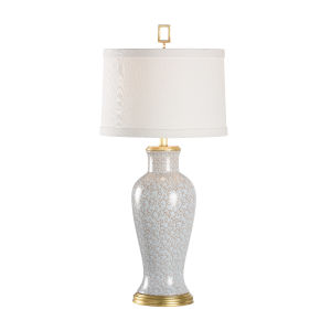 Gray and Gold One-Light Swirl Table Lamp