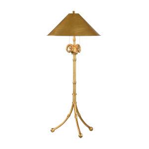 Gold Two-Light Floor Lamp