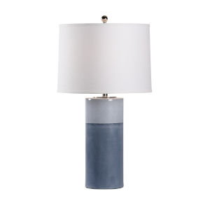 Destin Navy and Polished Nickel One-Light Table Lamp