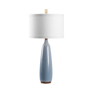 Gulf Blue and Brown One-Light Table Lamp