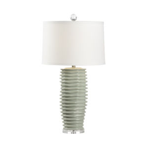 Colorado Mint Green and Polished Nickel One-Light Table Lamp