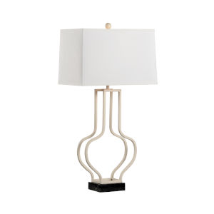 Hangchow White and Black One-Light Table Lamp