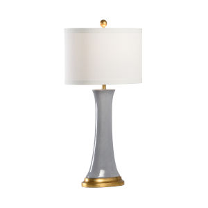 Hopper Antique Brass One-Light Table Lamp