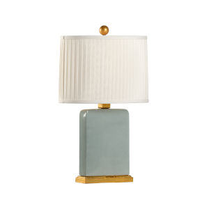 Slender Gray and Gold One-Light Table Lamp