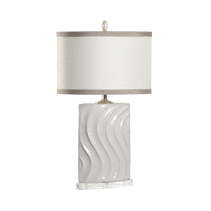 Rosenburg Gray with Polished Nickel One-Light Table Lamp