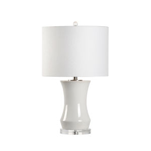 Bel Air White 26-Inch One-Light Table Lamp