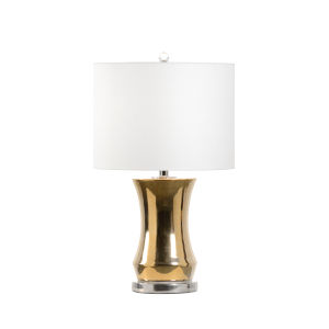 Bel Air Gold and Silver One-Light Table Lamp