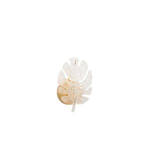 Gold One-Light Glass Leaf Wall Sconce
