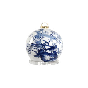 Blue and White One-Light Lantern