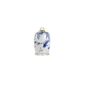 Blue and White 12-Inch Lantern