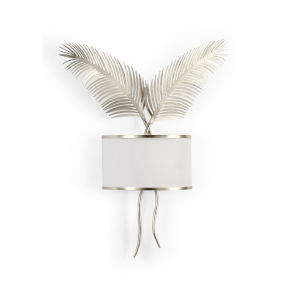 Silver Two-Light Palm Wall Sconce