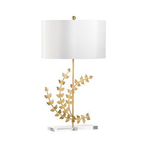 Flourish Gold One-Light Left Table Lamp