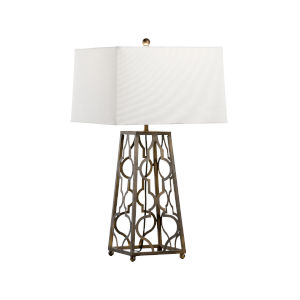 Tampa Bronze and White One-Light Table Lamp