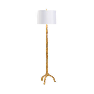 Antique Gold One-Light Twig Floor Lamp