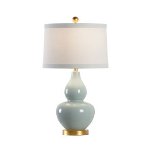 Celadon with Antique Gold One-Light Table Lamp