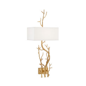 Gold One-Light Left Wall Sconce