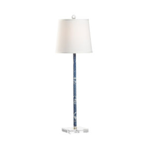 Hong Kong White and Black One-Light Flute Table Lamp