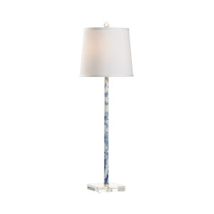 Macau White and Black One-Light Table Lamp