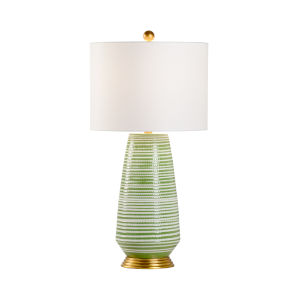 Green and White One-Light Table Lamp