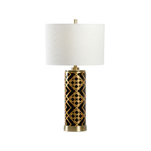 King Black and Metallic Gold One-Light Table Lamp