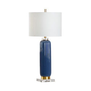 Samuel Blue and White One-Light Table Lamp