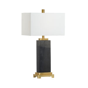 Black Black One-Light Black Kennedy Marble Lamp