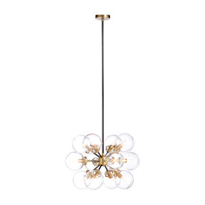 Naal Black and Brass 12-Light Pendant