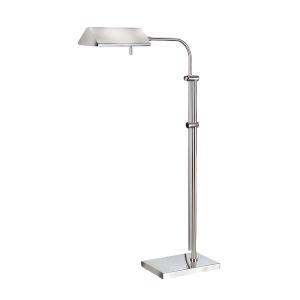 Basil II Satin Nickel Floor Lamp