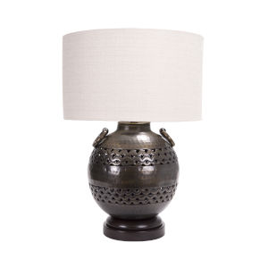Darius Bronze and Espresso 22-Inch Table Lamp