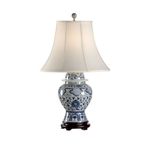 Indigo Blue and White Table Lamp