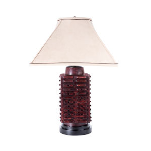 Imperial Natural Oxblood Table Lamp