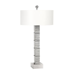 Bastion Satin Nickel Table Lamp